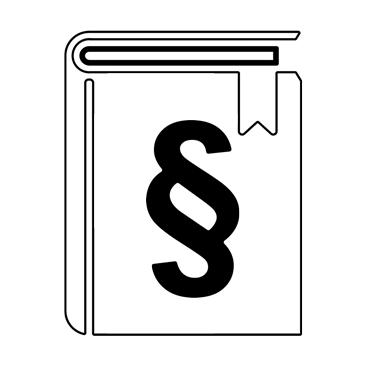 weißes Buch mit Paragraf