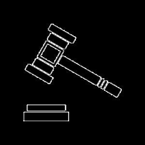 Gerichtshammer schwarz