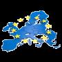 Europakarte mit Sternen